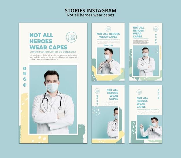 Histórias profissionais médicas instagram