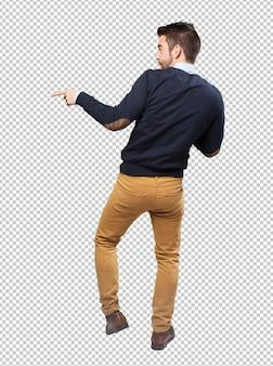 Homem elegante, corpo cheio, dançar