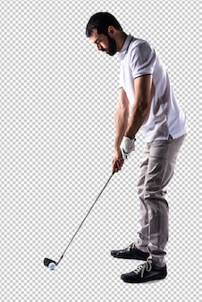 Homem golfista