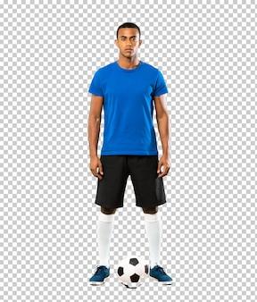 Homem jogador de futebol americano africano