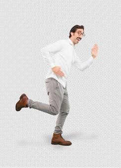 Homem louco correndo