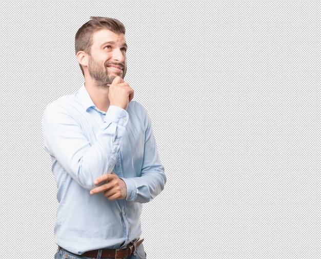 Homem moderno, pensando