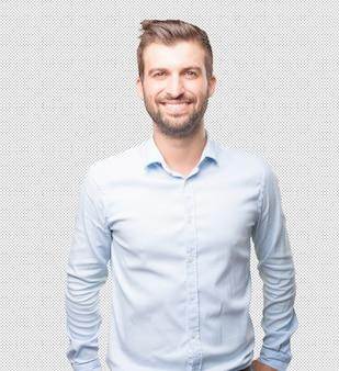 Homem moderno, sorrindo