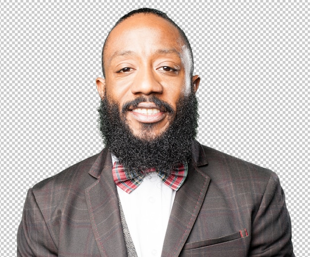 Homem negro, closeup