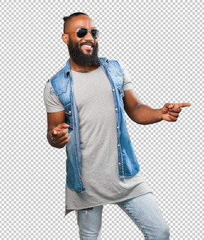 Homem negro dançando