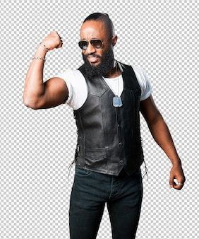 Homem negro forte