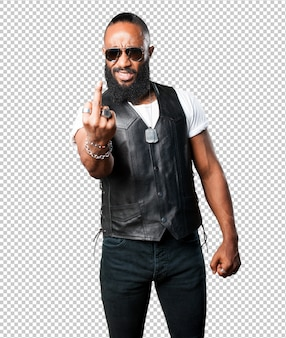 Homem negro louco
