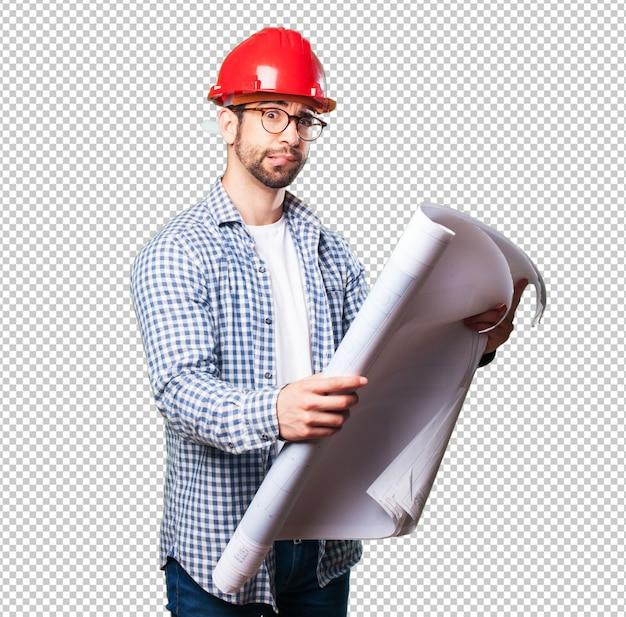 Homem preocupado arquiteto