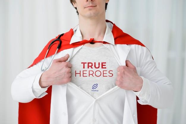 Homem vestindo close-up, capa
