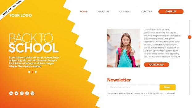 Hot landing page voltar para o conteúdo escolar