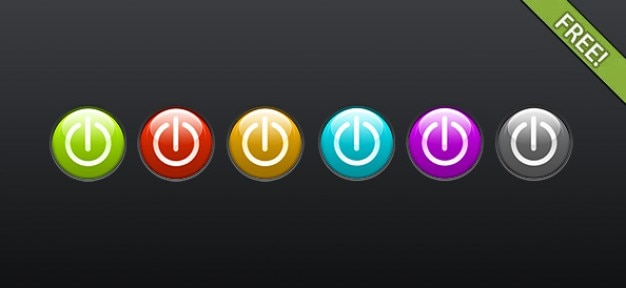 Icon set livres de energia