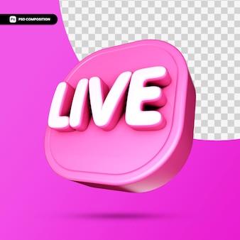 Ícone 3d ao vivo isolado