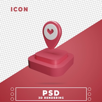 Ícone 3d com renderização isolada do pódio do mapa