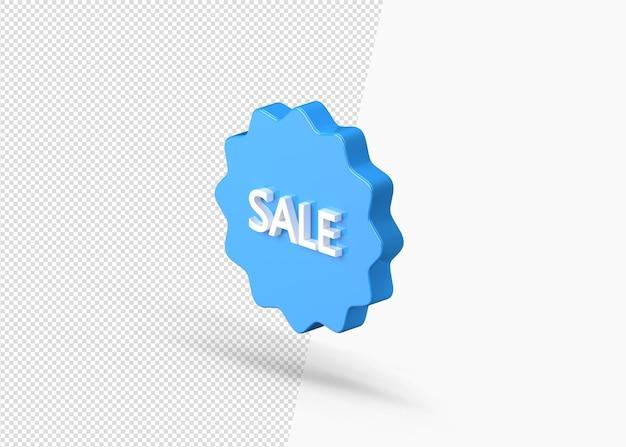 Ícone 3d de adesivo redondo de super venda isolado