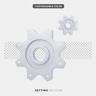 Ícone 3d de configuração