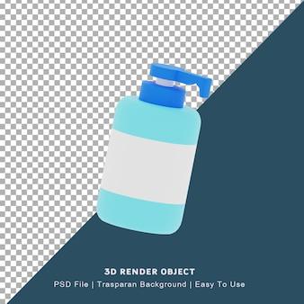 Ícone 3d de ilustração desinfetante para as mãos