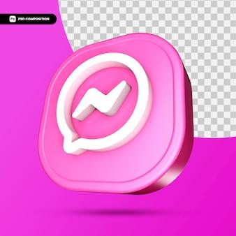 Ícone 3d do messenger isolado