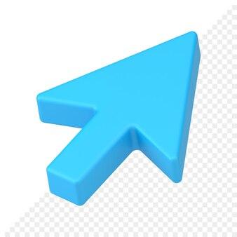 Ícone 3d do ponteiro de seta