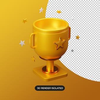 Ícone 3d goldtrophy isolado