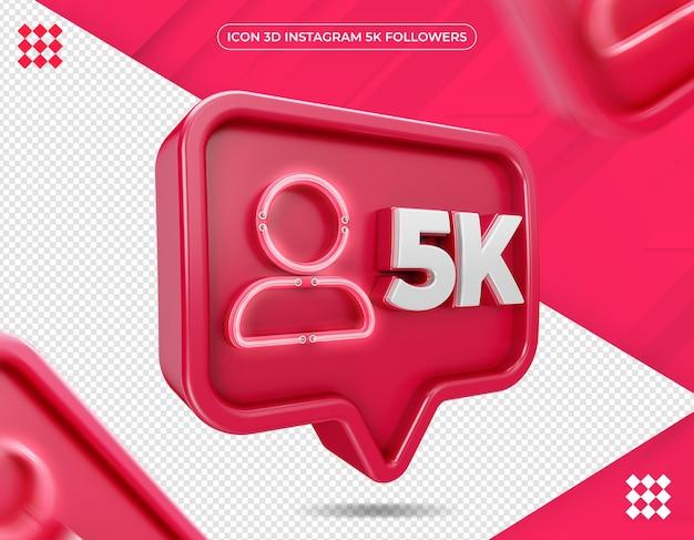 Ícone 3d instagram 5k isolado