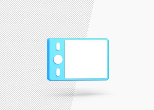 Ícone 3d isolado de tablet de design moderno