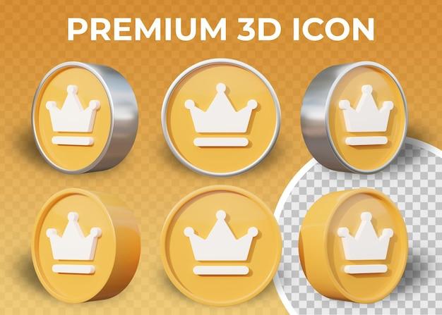 Ícone 3d plano realista premium isolado