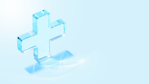 Ícone azul médico