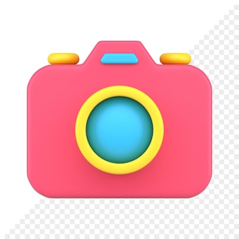 Ícone da câmera fotográfica 3d
