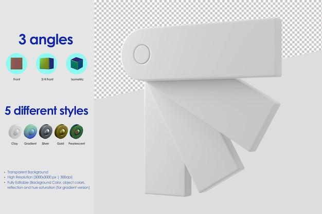 Ícone da paleta de cores 3d
