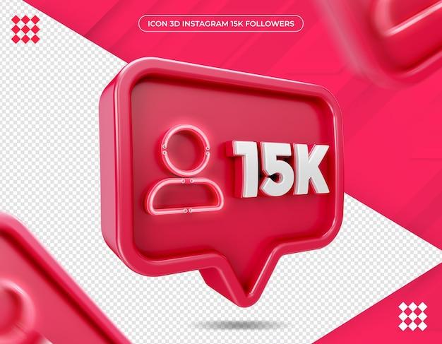 Ícone de 15 mil seguidores no instagram design