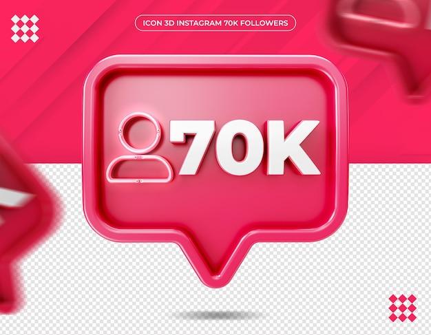 Ícone de 70 mil seguidores no design do instagram