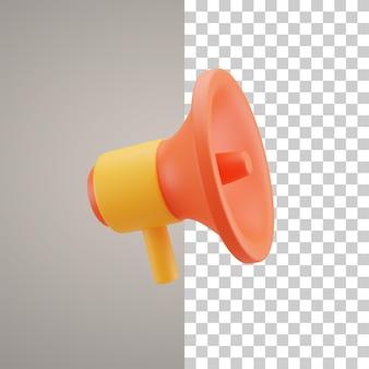 Ícone de alto-falante de ilustração 3d