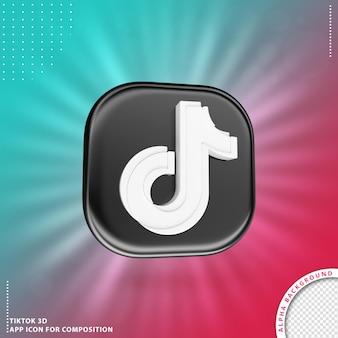 Ícone de aplicação tiktok 3d