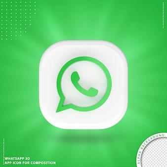 Ícone de aplicação whatsapp para branco de composição