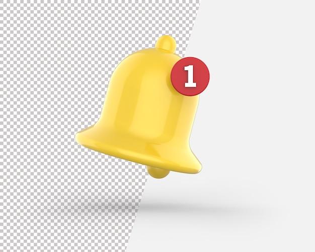 Ícone de campainha de notificação 3d