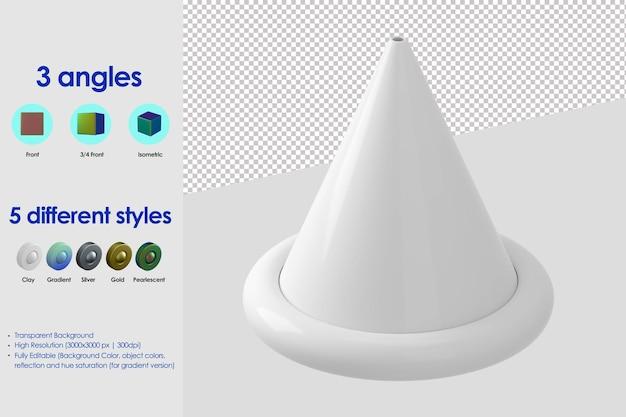 Ícone de chapéu de festa 3d