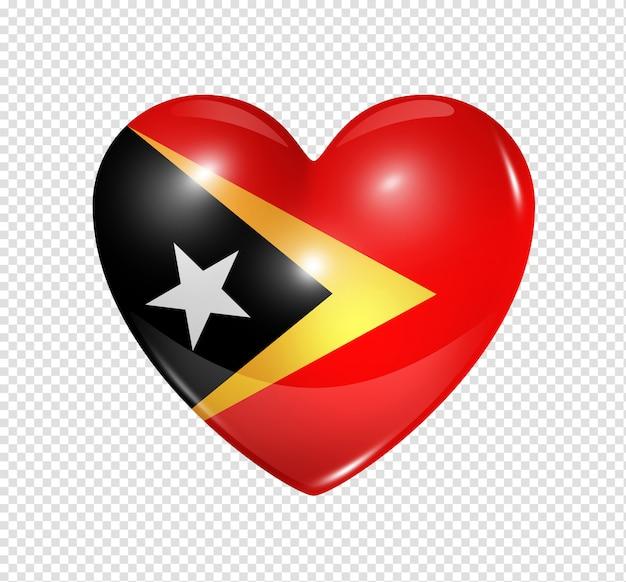 Ícone de coração com bandeira de timor-leste