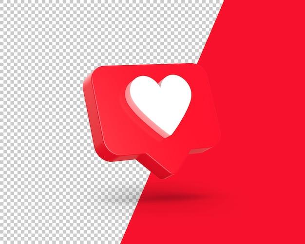 Ícone de coração voador 3d