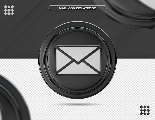 Ícone de correio 3d isolado
