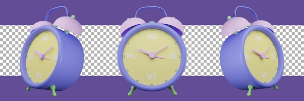 Ícone de despertador com renderização 3d