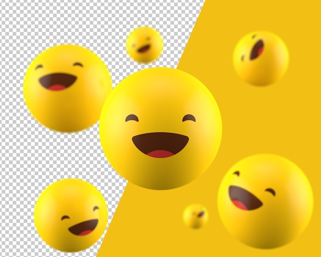 Ícone de emoticon 3d sorridente