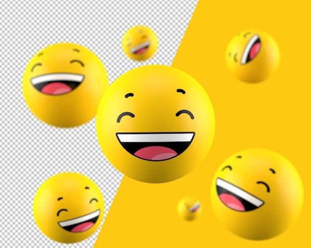 Ícone de emoticon de milha 3d