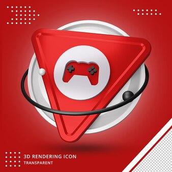 Ícone de engrenagem do jogo em renderização 3d