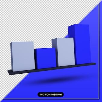 Ícone de estatística de ilustração 3d