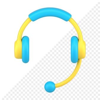 Ícone de fone de ouvido 3d