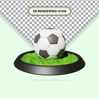 Ícone de futebol realista renderizado em 3d
