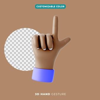 Ícone de gesto de lista de verificação de mão 3d