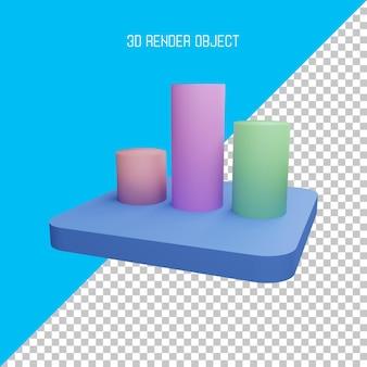 Ícone de gráfico 3d