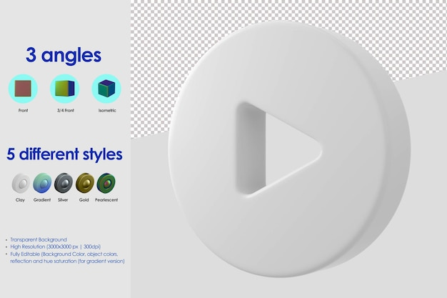 Ícone de jogo 3d