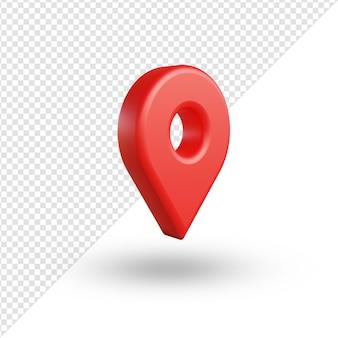Ícone de localização 3d realista